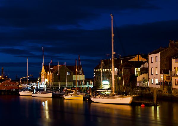 Aqua Photograph - Whitby Harbour by Svetlana Sewell