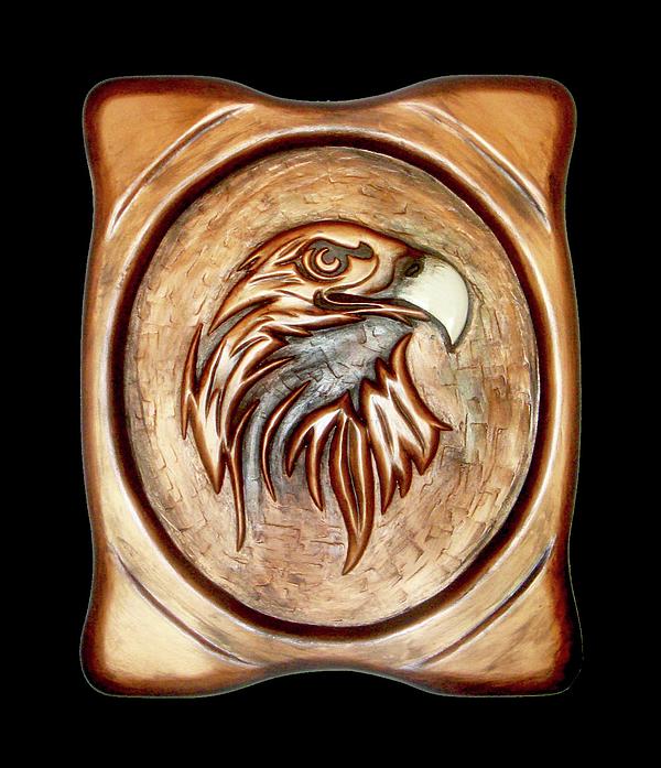 Wood Relief - White Beak by A Yasini