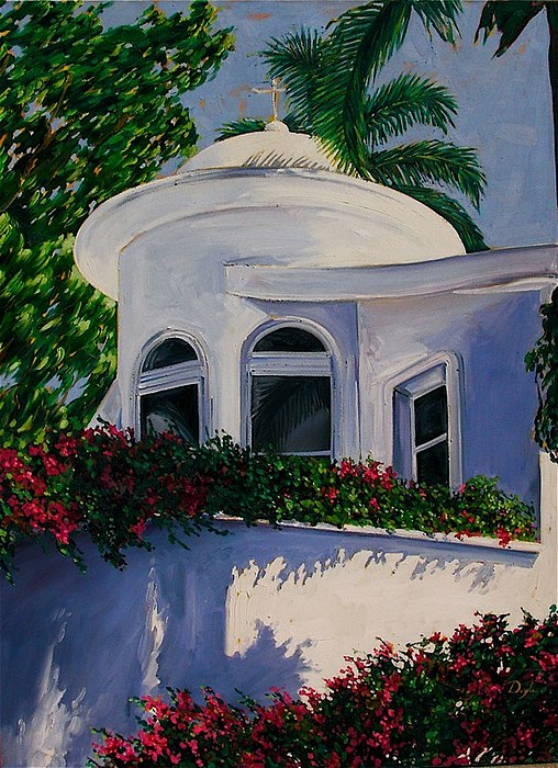 Dome Painting - White Dome by Karen Doyle