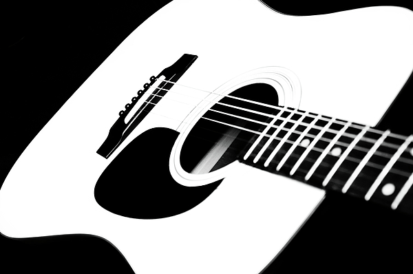 White Guitar Photograph - White Guitar 4 by Andee Design