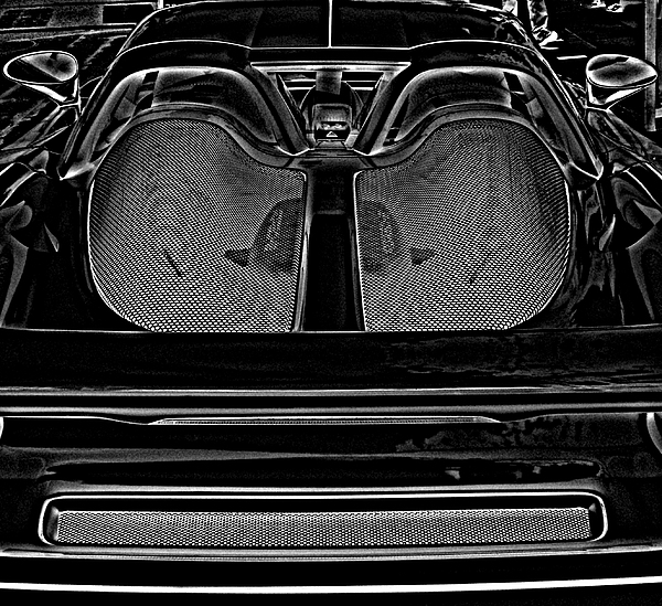 Porsche Photograph - White Porsche  by Fred Nugent