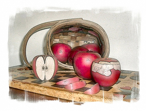Apples Photograph - Whites Fall by Rose Guay