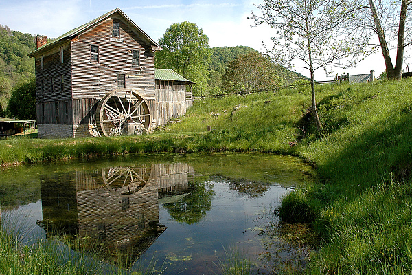 Mill Photograph - Whites Mill by Alan Lenk