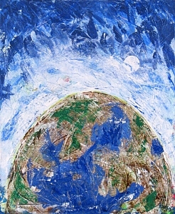 Earth Painting - Who Are You by Rollin Kocsis