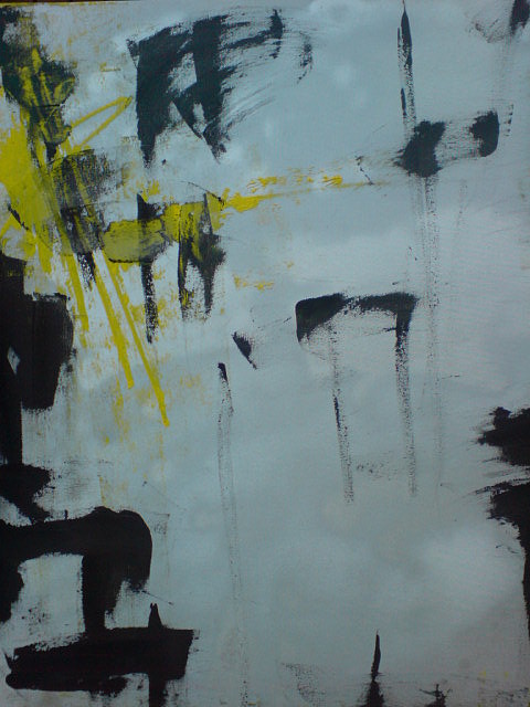 Who s Afraid Of Yellow And Black Painting by Nathalie  Dujmovic