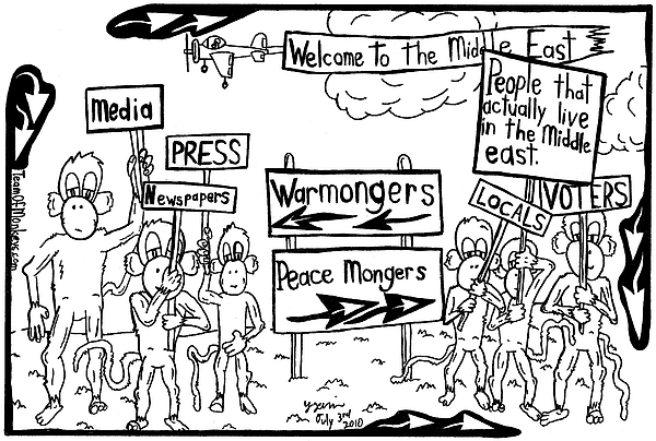 Middle East Drawing - Who Wants What In The Middle East By Yonatan Frimer by Yonatan Frimer Maze Artist