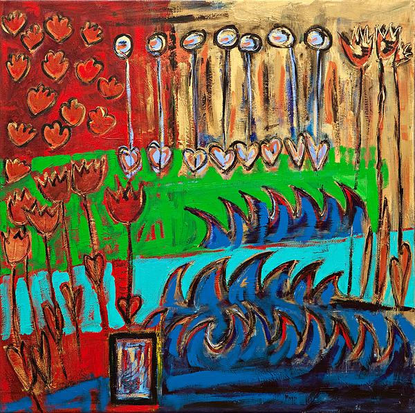 Garden Painting - Wild Abstract Garden by Maggis Art
