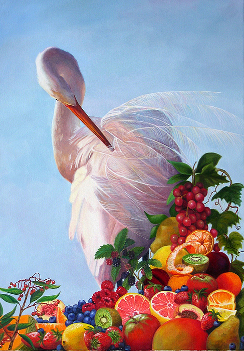 Egret Painting - Wild And Sweet 7 by Valerie Aune
