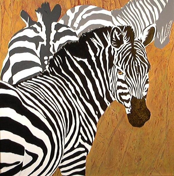 Zebra Painting - Wild Equine by Lynn Millar