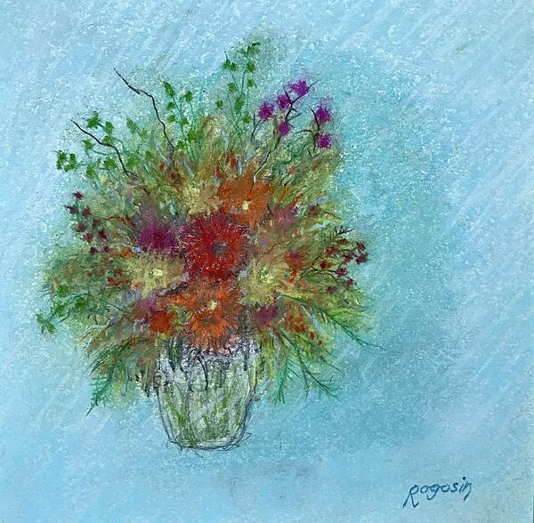 Still Life Pastel - Wild Flowers by Harvey Rogosin