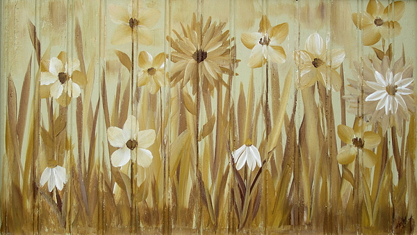 Acrylic Paint Painting - Wild Flowers by Kathy Sheeran