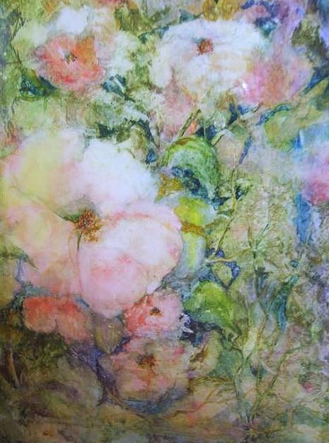 Watercolor Painting - Wild Roses by Barbara Walter