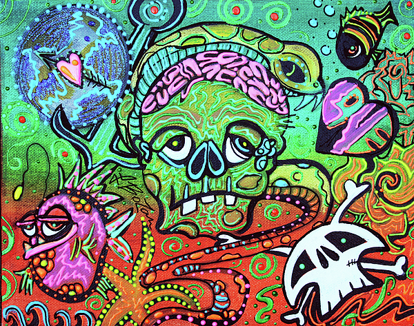 Wild Zombie Painting By Laura Barbosa