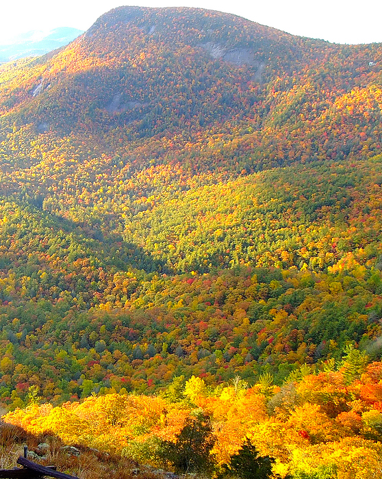 Autumn Photos Photograph - Wildcat Cliffs One  Highlands North Carolina by Mark W Hutchison