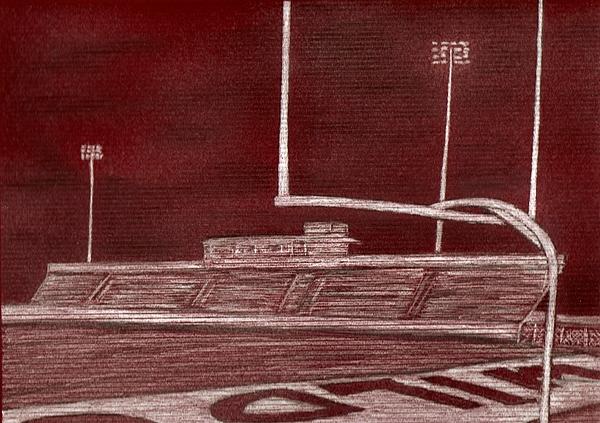 Wildcat Stadium Drawing by Rhonda  Yesel