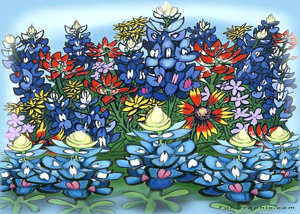 Wildflowers Digital Art - Wildflowers by Kevin Middleton