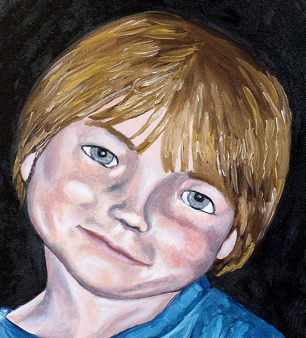 Boy Painting - Will by Jean Haynes