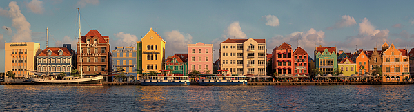 Amsterdam Photograph - Willemstad Curacao Panoramic by Adam Romanowicz