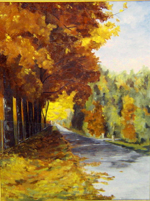 Fall Color Painting - Williams Bay Wisconsin by Zoe Landria