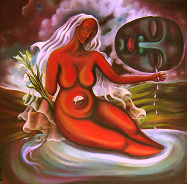 Nude Painting - Williams Tears by Lina Scarfi