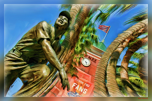 Att Park Photograph - Willie Mays  by Blake Richards