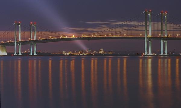 Delaware Memorial Bridge Photograph - Wilmington by Michael Redmond
