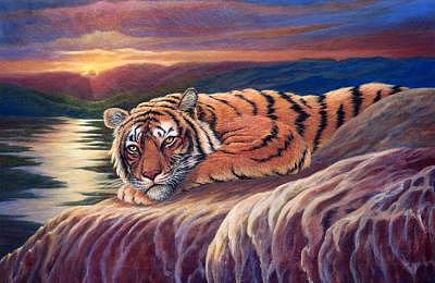 Tiger Painting - Wind Down by Pravit Rojawat