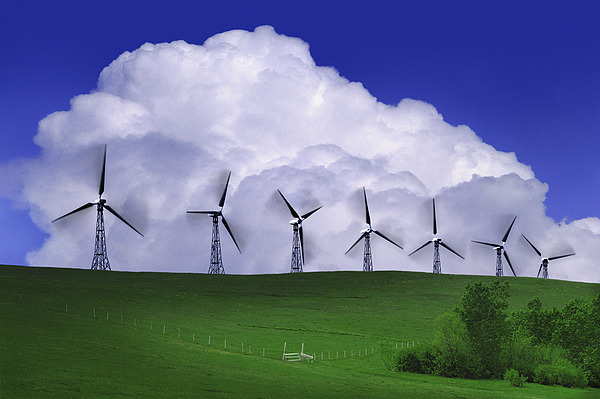 Blur Photograph - Wind Generators With Clouds In by Don Hammond