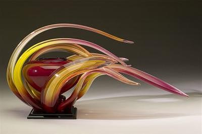 Art Glass Glass Art - Wind Series B 2007 by Randy Strong
