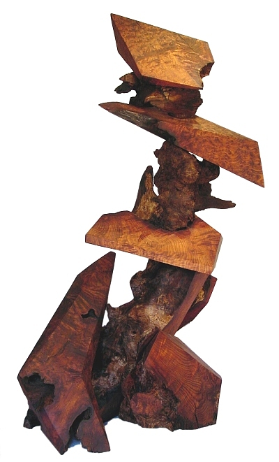 Wood Sculptures Sculpture - Wind Swept  by Daryl Stokes