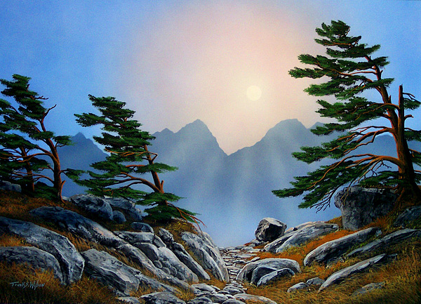 Landscape Painting - Windblown Pines by Frank Wilson