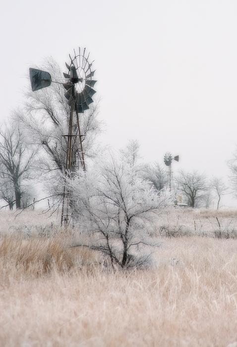 Kansas Photograph - Windmill Antithesis by Fred Lassmann