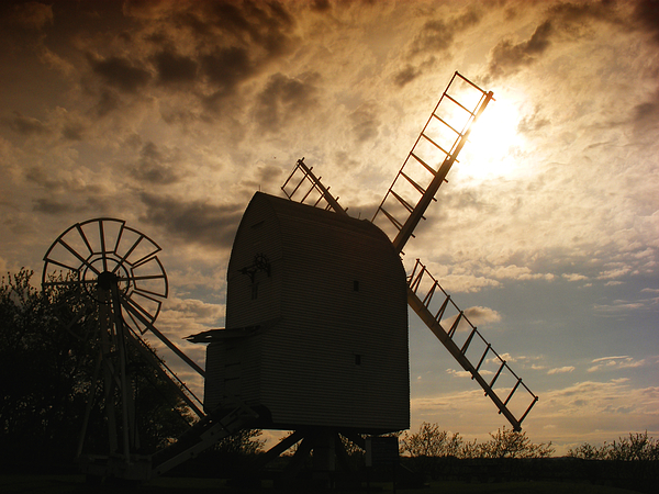 Landscape Photograph - Windmill At Dusk  by Pixel Chimp