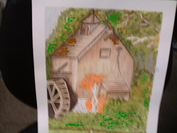 Windmill Painting - Windmill by Georgina Brandt