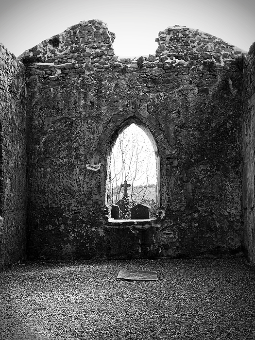 Ireland Photograph - Window At Fuerty Church Roscommon Ireland by Teresa Mucha