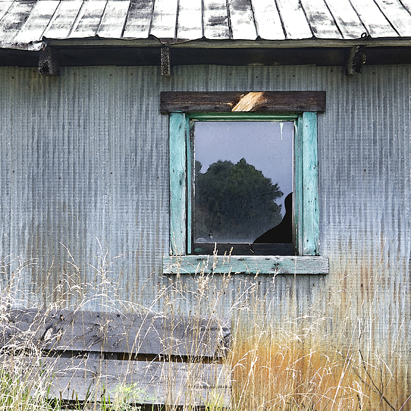 Window Photograph - Window Framed In Aqua by Glennis Siverson