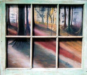 Window Painting - Window Of Opportunity by Amanda  Sanford