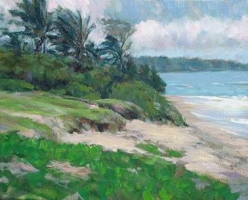 Landscape Painting - Windward Ohau - Hawaii by Rod Cameron