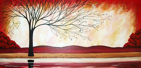 Landscape Painting - Windy Red River by Peggy Davis