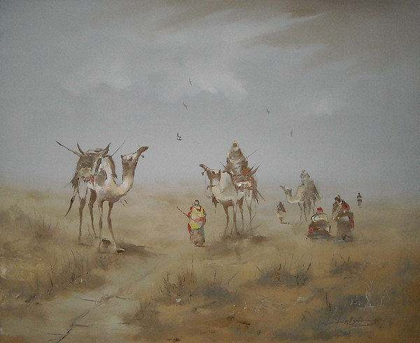 Iraq Painting - Windy Winds Colors by Windy Black Signature