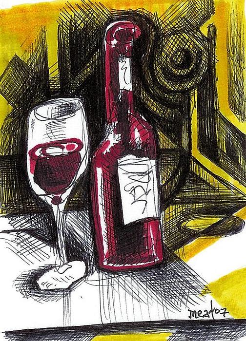 Wine And Drink Painting by Meat-Jeffery Paul Gadbois