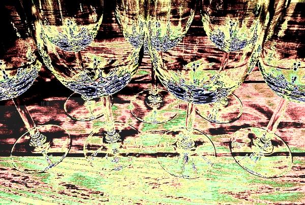 Wine Glasses Digital Art - Wine Glasses by Will Borden