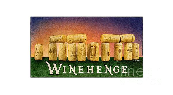 Tee Painting - Winehenge by Will Bullas