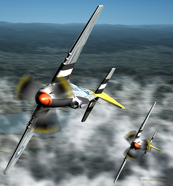 Aircraft Digital Art - Wingman by Jim Coe