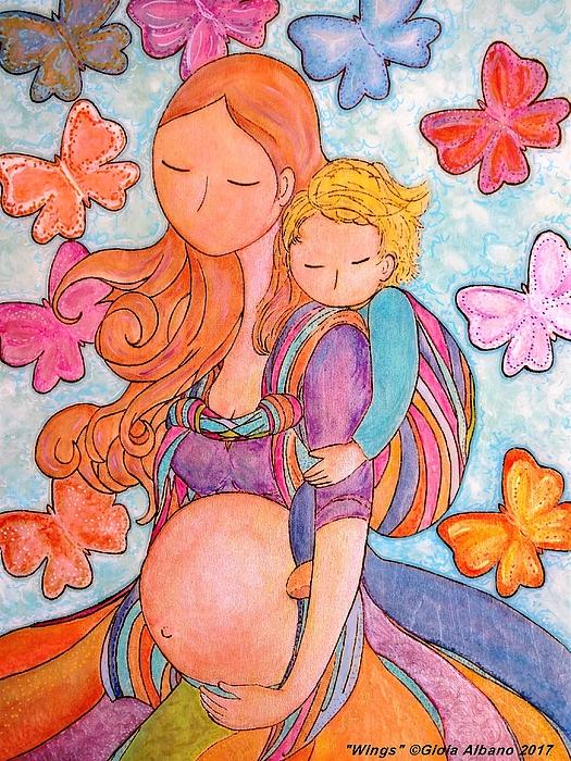 Babywearing Pyrography - Wings by Gioia Albano