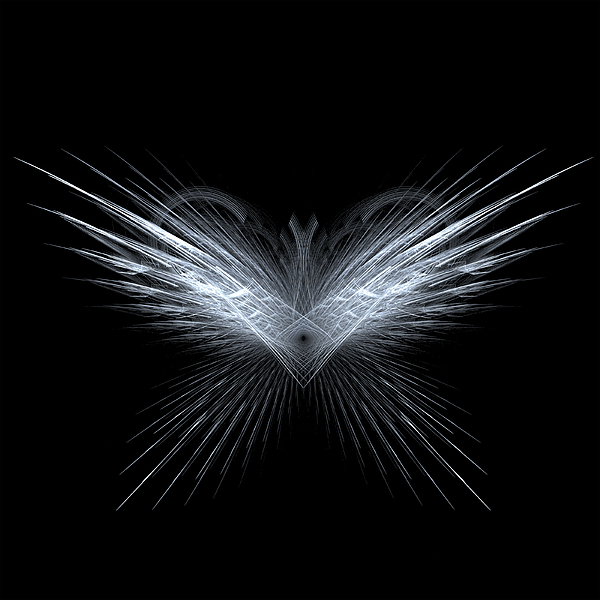 Abstract Digital Art - Wings by Kim French