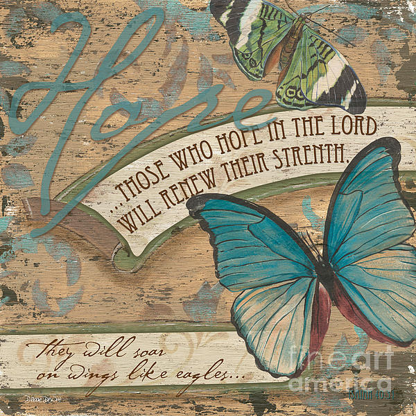 Butterfly Painting - Wings Of Hope by Debbie DeWitt