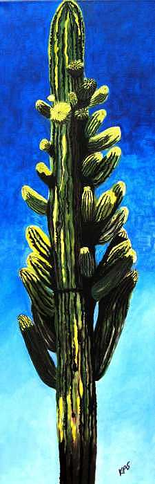 Southwest Painting - Winkleman Saguaro by Kitty Schwartz