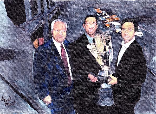 Jimmie Johnson Painting - Winning Nascar by David Poyant