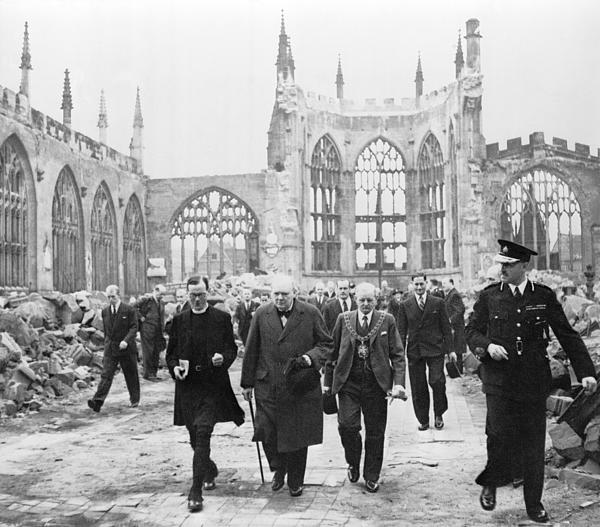 History Photograph - Winston Churchill 1874-1965, Walks by Everett
